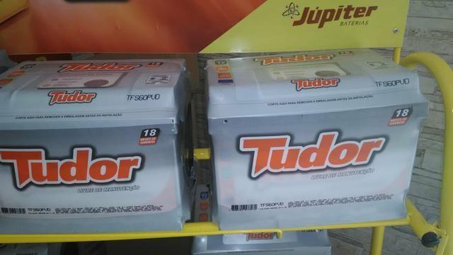 Bateria tudor 60 ah com garantia entrega grátis a base de troca