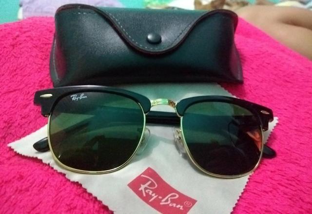 0cd1e22a8 Óculos de Sol Ray?Ban Clubmaster Preto - Bijouterias, relógios e ...