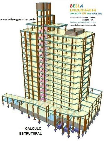 Calculo Estrutural Regularização Edificações Clinicas Geriátricas Casas Repouso Colégio - Foto 3