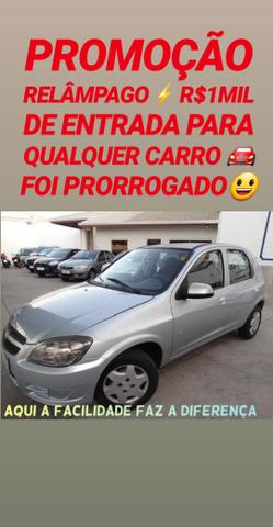 R$1MIL DE ENTRADA(CELTA LT 1.0 4PORTAS COMPLETO)SHOWROOM AUTOMÓVEIS