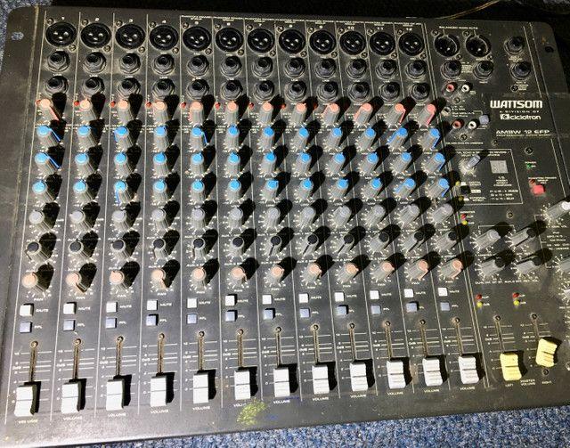 Mesa 12 canais efeitos mixer Watsom AM8W