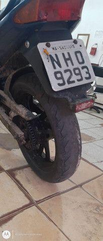 Vendo uma moto fazer 250 azul - Foto 5