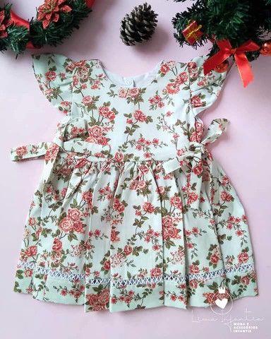Vestido Floral - M (3 a 6 meses)