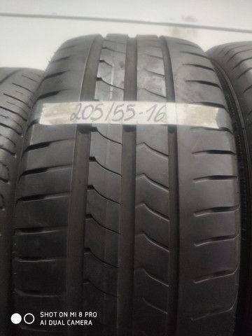 Pneu 205/55-16 Michelin, Bridgestone, Goodyear sem concertos em média 70% de vida útil