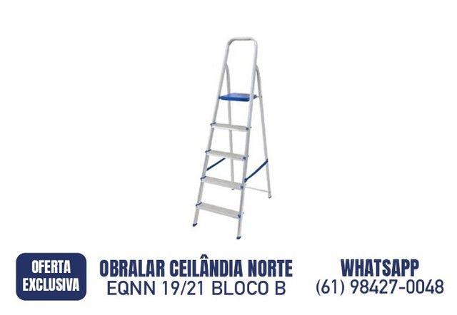 R$ 219,90 Escada Alumínio 5 Degraus SBA