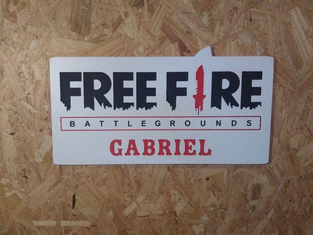 placa decorativa freefire