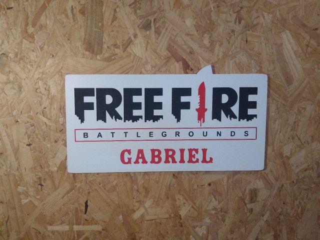 placa decorativa freefire - Foto 3