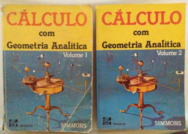 Livros Cálculo com Geometria Analítica  -Vol. 1 e 2 - Foto 2