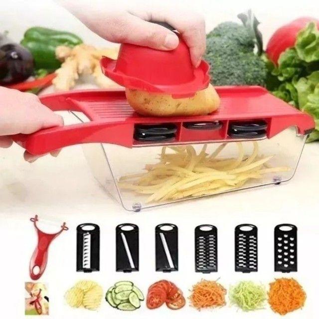 Kits cortador ralador fatiador ótimo pra fazer diversos tipos de salada só 65 REAIS - Foto 5
