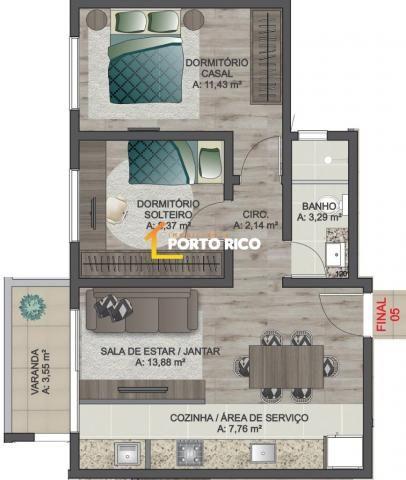 Apartamento à venda com 2 dormitórios em Sanvitto, Caxias do sul cod:1785 - Foto 6