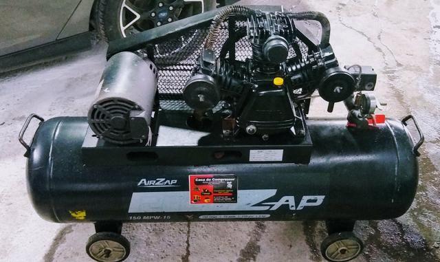 Barbada.Compressor motor 3hp 150 litros 130 psi - Foto 2