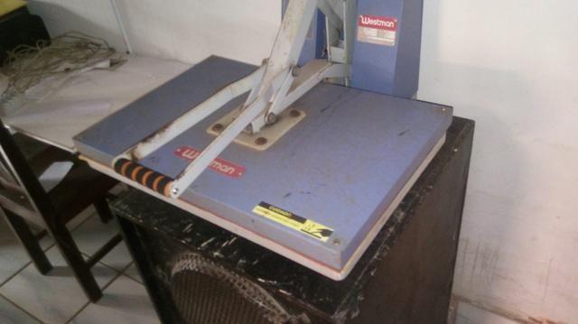 Prensa térmica + overlook semi industrial + maquina de de costura reta - Foto 5