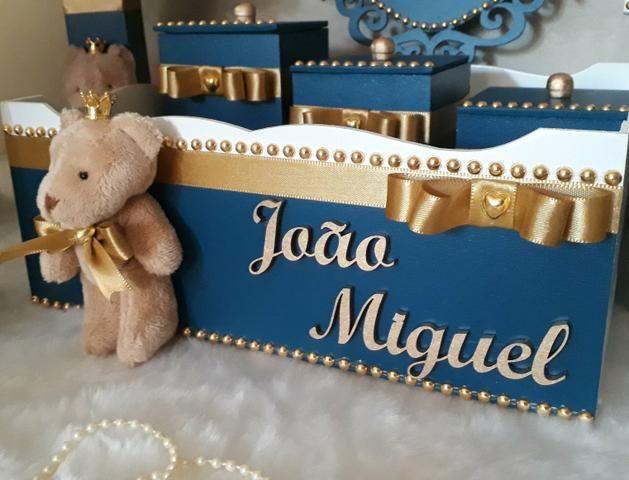 Kit Higiene Bebê Realeza Ursinho - Foto 5