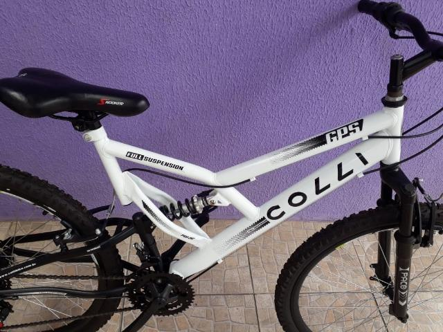 Bicicleta Colli Fulls GPS Aro 26 21 Marchas Suspensão Dupla 220
