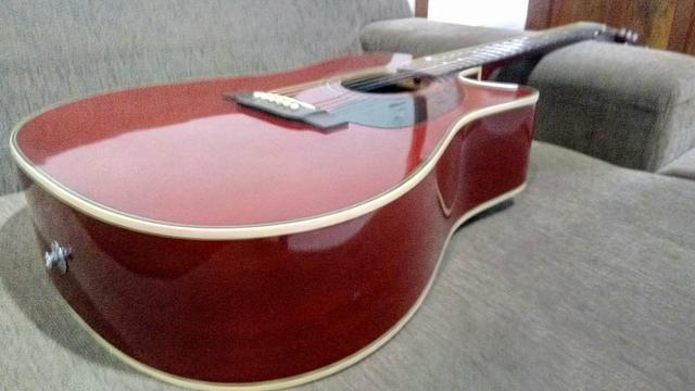 Violão Takamine eg530c seminovo made in Korea - Foto 4