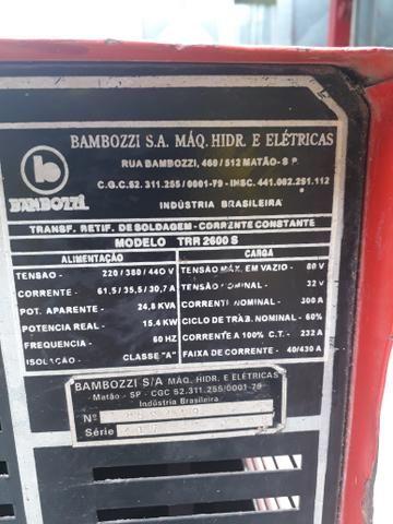 Máquina de solda bambozzi 430a trr 2600s - Foto 2
