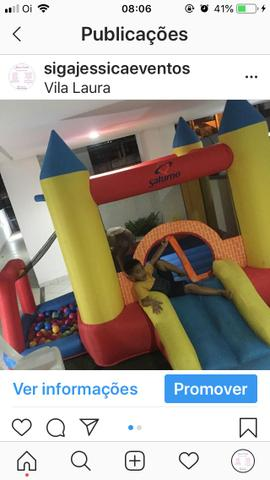 Tombo legal, pula pula, piscina de bolas, castelo inflável, crepe, pipoca, batata frita - Foto 4