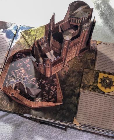 Livro game of thrones guia pop-up westeroz