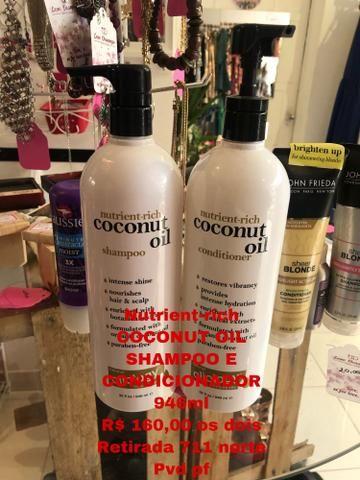 Shampoo e condicionador nutrient-rich coconuit oil 946 ml