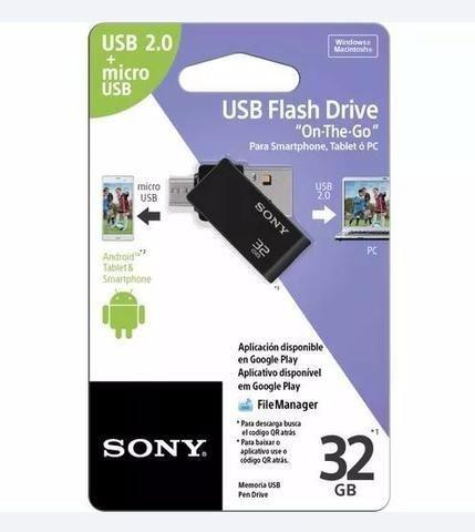 Pen Drive Sony - Dual Drive - 32 Gb - Smartphone - Pendrive 100% original