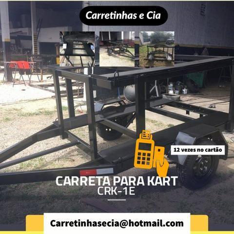 Carretinha reboque engates peças - Foto 4
