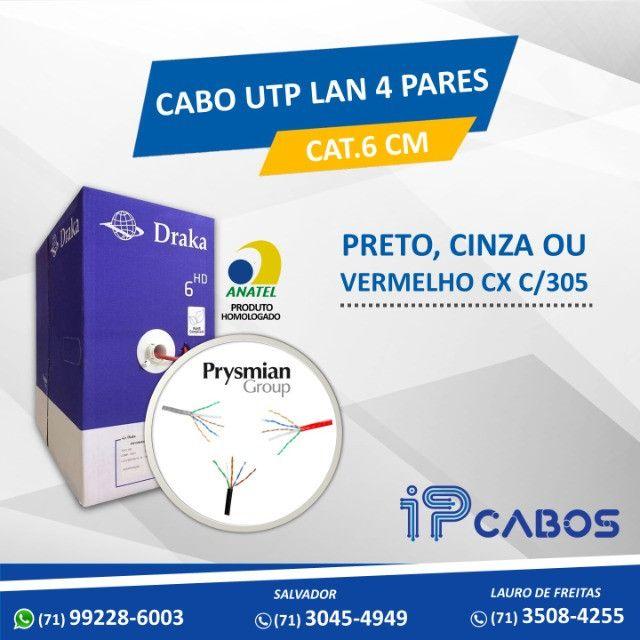 cabo utp lan  4 pares cat.6 cm cabo de rede é na IP Cabos !