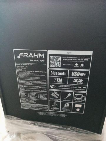 Caixa anplificada frahm 1200 wtts