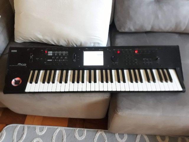 M50 Korg parcelo no cartão/ML avalio troca por teclado arranjador c/ritmos - Foto 3