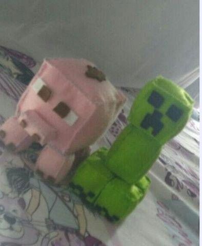 Bonecos Minecraft em feltro
