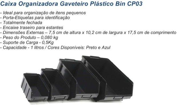 Caixa Plastica Organizadora BIN3 cor preta