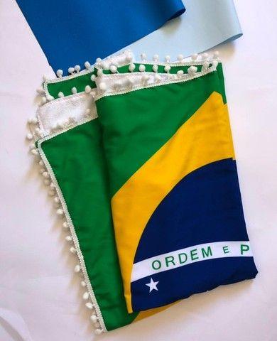 Canga De Praia Atoalhada Bandeira Do Brasil - Foto 2