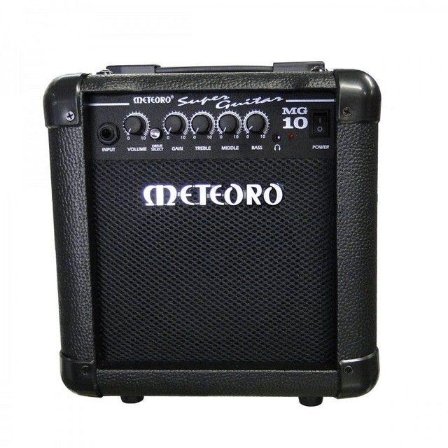 Guitarra Tagima Tg 530 versão Woodstock + Amplificador Meteoro MG10 - Foto 3