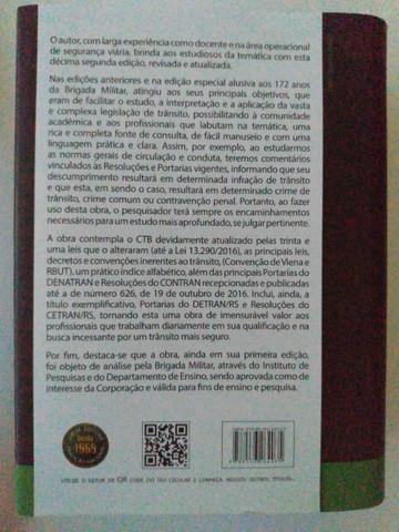 Livro Código de Trânsito Brasileiro Comentado  e Legislação Complementar - Foto 2