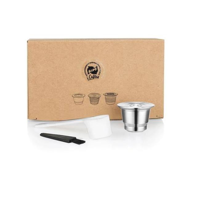 Nespresso cápsula de café reusável aço inoxidável filtros recarregáveis