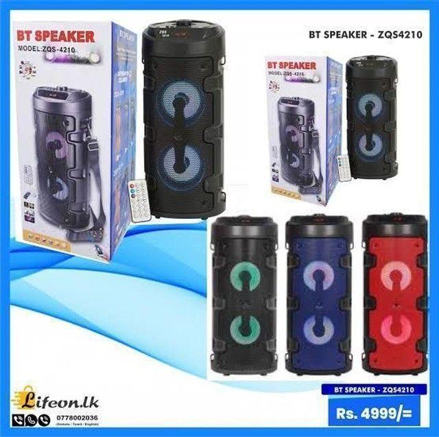 Caixa de som recarregável Bluetooth FM pendrive. Torre bazzuca - Foto 4