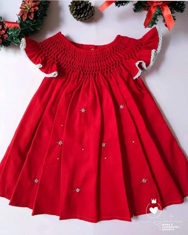 Vestido Casa de Abelha - 12 meses.