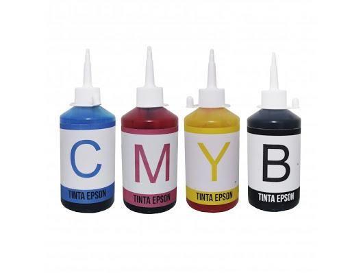Kit tinta com as 4 cores para impressoras ecotanque