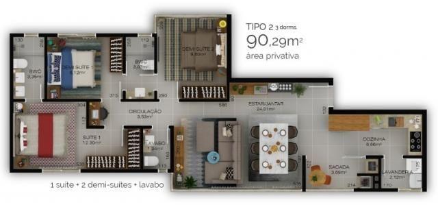 Apartamento no américa | 01 suíte + 02 demi suítes | 02 vagas de garagem | 90m2 privativos - Foto 5