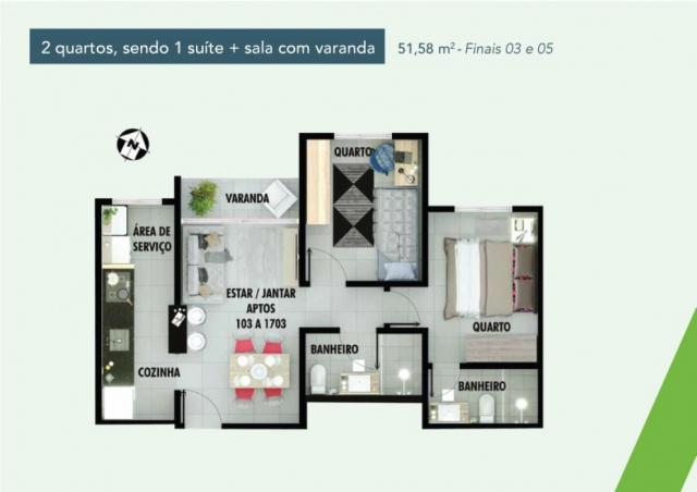Apartamento 2 dorms no samambaia norte em Samambaia - DF - Foto 15