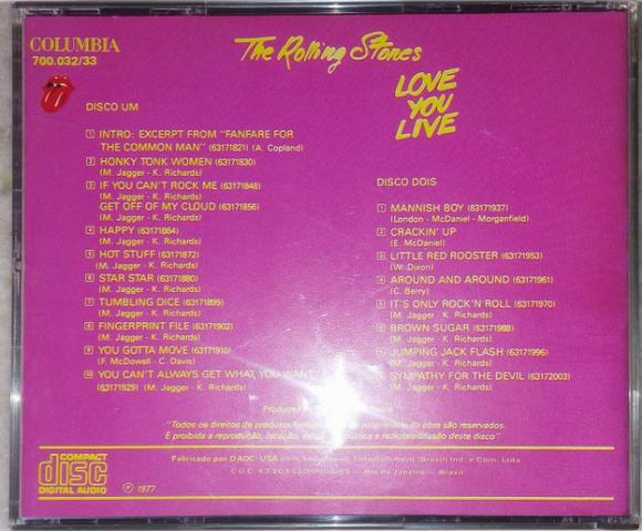 Cd The Rolling Stones - Love You Live (2 Cds) - Foto 6