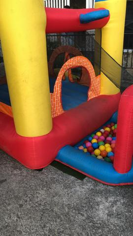Tombo legal, pula pula, piscina de bolas, castelo inflável, crepe, pipoca, batata frita - Foto 2