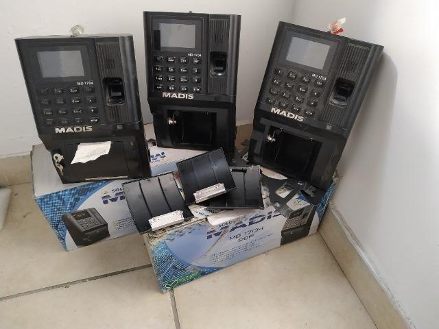 Lote 3 Relogios de ponto madis 1704 leitor biometrico e impressao de comprovante
