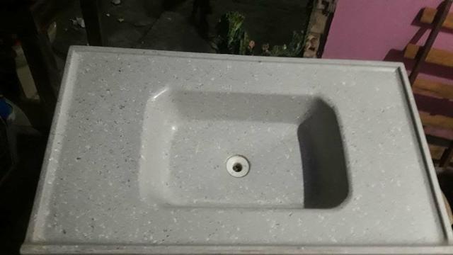 Pia de marmore simples - Foto 2