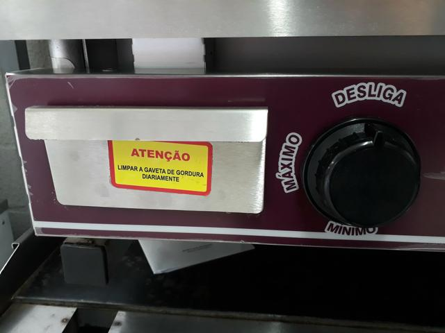 Chapa Bifeteira BG-62 à gás Tedesco - Foto 4