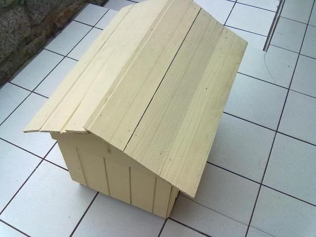 Casinha de madeira para cachorros pequenos e gatos - Foto 3