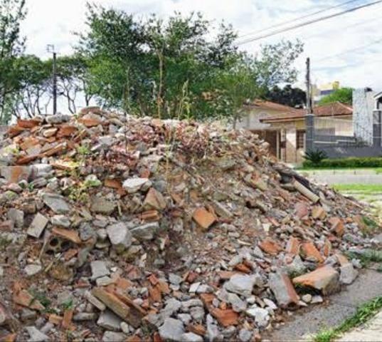 Doação de caliça de construção. Entulho