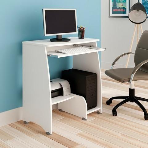 Mesa para computador na cor branca pixel