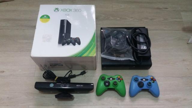 Xbox 360 4gb Destravado Com Kinect - Foto 2