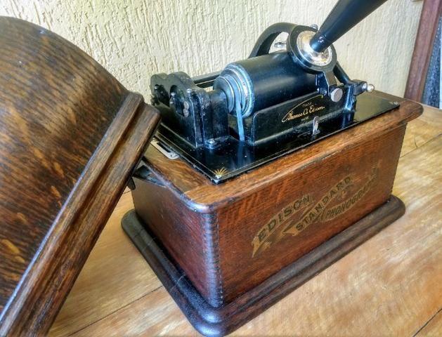 Fonógrafo Gramofone Thomas Edison 1900 - Foto 5