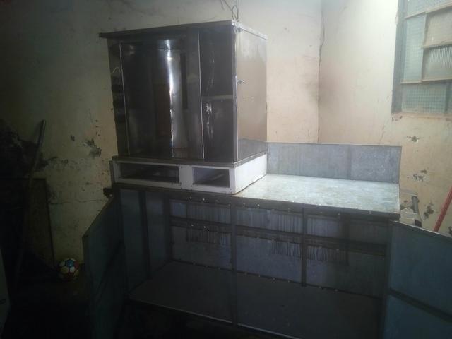 Máquina de churrasco grego funcionando perfeitamente - Foto 2